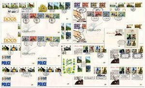 GB 1979 FIRST DAY COVERS SPECIAL POSTMARKS 20 DIFFERENT FDCs cat £150+