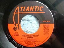 """GENESIS 45 RPM 7"""" - Throwing It All Away"""