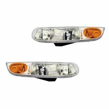 Fits 00-02 Saturn SL SW Driver + Passenger Headlight Light Lamp Assembly 1 Pair