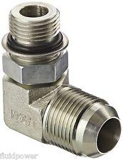 "Aeroquip 2062-10-12 Flared Tube Fitting, 90 Degree, 3/4 M JIC x 5/8"" O-Ring Boss"