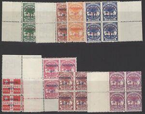 SAMOA SG90/7 1899-900 PROVISIONAL GOVERNMENT MNH BLOCKS OF 4