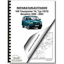 VW Transporter/Bus T4 (90-03) 5-Zyl 2,4l 2,5l Dieselmotor TDI Reparaturanleitung