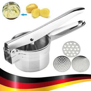 Kartoffelpresse Edelstahl Spätzlepresse Nudelpresse Spaghettieis Presse 3 in1 DE
