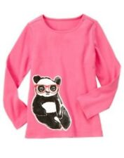 Gymboree Panda Academy Panda Glasses Long Sleeve Pink Tee Size 4 NWT