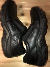 MERRELL Men's Jungle Moc Midnight Black Leather Slip On Loafer Shoe Sz 10