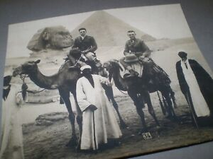 social history 1910's  military on camels EGYPT photograph 6'inch