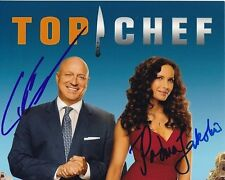 PADMA LAKSHMI & TOM COLICCHIO signed autographed TOP CHEF photo