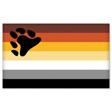 Gay Pride Bear Flag Sticker - new