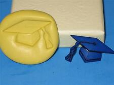 Graduation Cap Hat Silicone Push Mold A57 For Cake Chocolate Resin Fondant