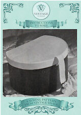 Vintage womens sewing pattern-How to make 1940s hat box,storage box-