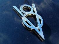 UK ~ VINTAGE V8 CHROME CAR BADGE Metal Emblem *NEW & UNIQUE!* CLASSIC