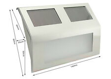 Segnapasso luce solare con 4 LED - con funzione crepuscolare, in acciao satinato