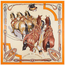 "Women's Orange Horses Head Shawl Scarves Fashion Silk Large Square Scarf 51""*51"""