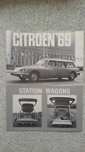 Citroen DS Id 1969 Break Station Wagon Catalogue Leaflet Brochure USA NOS