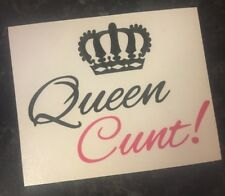 Queen C**t Decal vinyl stickers for Mugs Pint Glasses Gift Valentines