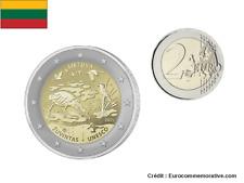 PREVENTE 2 Euros Commémorative Lituanie Réserve Zuvintas 2021 UNC