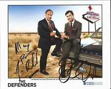 Hand Signed 8x10 photo JAMES BELUSHI & JERRY O'CONNELL - THE DEFENDERS + my COA