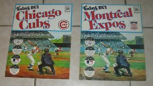 1971 DELL MLB TODAYS 1971 TEAM STICKER ALBUMS MONTREAL EXPOS and CHICAGO CUBS