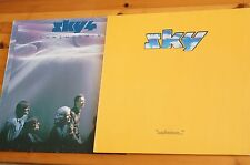 Pair of Sky Lps Cadmium A1/B1  NM Ariola and Forthcoming A2/B2 EX SLV VG