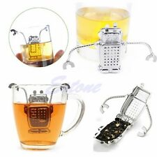 Stainless Strainer Hanging Robot Tea Leaf Diffuser Infuser Herbal Spice Filter
