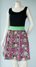 Too Fast Brand Women Size Large Punk Rock Pink and Green Pin Up Pussycat Dress