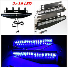 32LED Car Police Emergency Traffic Advisor Vehicle Strobe LED Lights Bar Blue