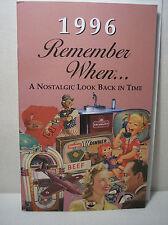 22nd Birthday / Anniversary - 1996 Remember When Nostalgic Book Card  - NEW