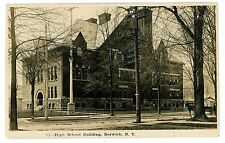 Norwich NY - HIGH SCHOOL BUILDING - RPPC Postcard