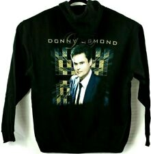 Donny Osmond Black Zip Up Hoodie Sweatshirt Size L Large Nwot