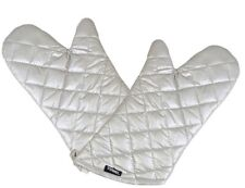 Pair Of Grey Oven Mitts Oven Gloves 43cm Long Silicone Coating