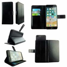 Slim Black Leather Protective Wallet Book Case Cover For STK Ace Plus - L