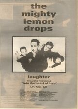 30/9/89Pgn28 Advert: The Mighty Lemon Drops Album 'laughter' 15x11 FRAMED