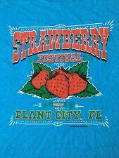 FLORIDA STRAWBERRY FESTIVAL-PLANT CITY FLORIDA T-SHIRT-XL-RARE