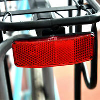 Bicycle MTB Bike Red Warning Reflector For Disc Rear Carrier Pannier Bag AU L9C9