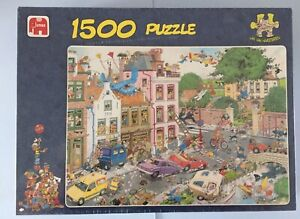 """Jan Van Haasteren 1500 Piece Jigsaw Puzzle - """"Friday The 13th """" New And Sealed"""