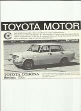 TOYOTA CORONA RANGE PLUS PRICES SALES BROCHURE  MID/LATE 60's