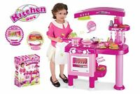 69pc Pink Children's Kids Pretend Kitchen Set Cooking Cookery Toy Role Play