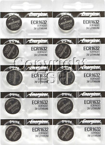 10 pc 1632 Energizer Watch Batteries CR1632 CR 1632  Lithium Battery 0%HG