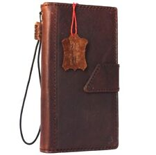 Genuine Full leather Case for iPhone 8 Plus book wallet magnet cover slim bown R
