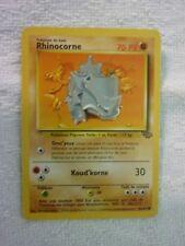 Carte pokémon rhinocorne 61/64 commune jungle carte marqué