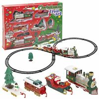 Christmas Tree Musical Santa Train & Track Set Toys Kids Party Gift Decor UK ILO