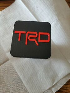 TRD Hitch cover Black Red TRD letters Tacoma/4Runner/Tundra
