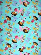 Dora Explorer and Boots Fly Away Butterflies 100% Cotton Fabric 1-1/2-yd Remnant