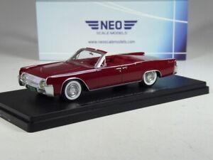 (KI-10-22) Neo Scale Models Lincoln Continental 53A Cabrio 1961 in 1:43 in OVP
