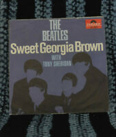 Beatles/Tony Sheridan 45&PS Sweet Georgia Brown / Skinny Minny German Export Lbl