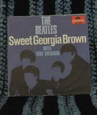 Beatles/Tony Sheridan 45&PS Sweet Georgia Brown / Skinny Minny German Export Lbl
