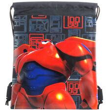Big Hero Authentic Licensed Black Drawstring String Bag School Sport Backpack