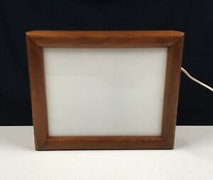 NICE! Walnut Wood Light Box For Viewing Film Negatives & Slides or For Tracing