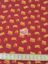 USC TROJANS LOGO BY SYKEL ENTERPRISES 100% COTTON FABRIC FH-3131 BY THE YARD