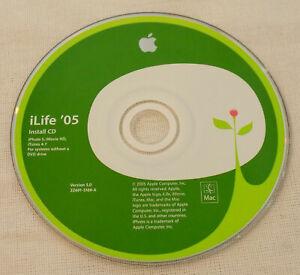 Apple iLife '05 Install CD iPhoto 5, iMovie HD, iTunes 4.7 for MAC Version 5.0